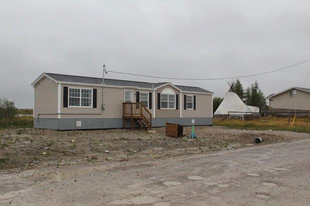 mobile home in attawapiskat. july 2012.